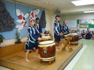 北中学校太鼓演奏h27,7,31 025